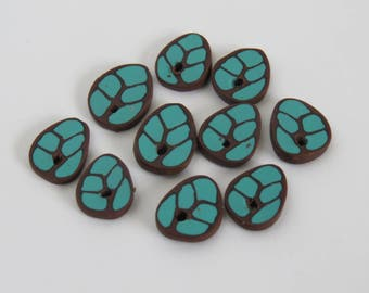 Beads, Turquiose leaf beads, leaves, unique beads, DIY craft beads, Leaf beads, Jewelry supply, Shygar bead, Artisan beads, 10 pieces