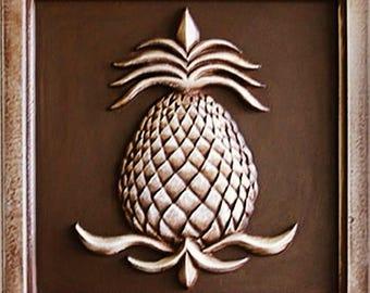 Pineapple Decor, Pineapple Plaque, Pineapple Garden Decor, Garden Decor, Outdoor Pineapple Plaques, Handmade, Home Decor, Marie Ricci