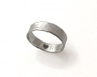 14K matte white gold wedding band. Curvy edges wedding band. gold wedding band.gold wedding band.wedding ring.(gr-9376-854).