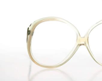 oversized pastel sage drop arm frames