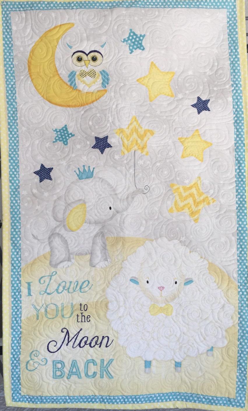 Baby Quilt Blanket Unisex Gender Neutral Yellow Blue
