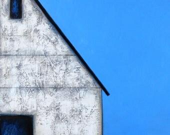 Barn Painting, Old Barn, Farm Painting, Landscape painting, White Barn, Farmhouse Art, Contemporary Barn, Minimalist Barn, Barn art Farm Art