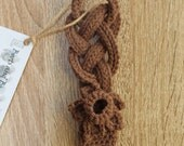Hand Knitted Crochet Welsh Love Spoon with Celtic Knot Handle and Daffodil Design - Handmade in the UK