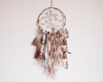 Boho dreamcatcher, nursery mobile, tree of life, wall hanging, dream catcher, handmade, earthy, large, tassel, boho bedroom, room decor