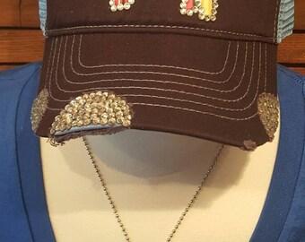 Serape bling stock show hat, gifts under 35, steer, pig, goat, lamb, 4H, FFA, livestock, farm girl