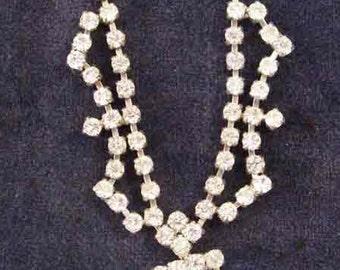Vintage Diamante Necklace - Beautiful Vintage Jewellery - Diamante Necklace, circa 1940s-50s, Party Season
