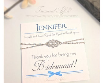 Sterling Bridesmaid Gift Sets, Bridesmaid Thank You Gifts, Bridesmaid Bracelets, Personalized Bridesmaid Gifts, Will you be my Bridesmaid