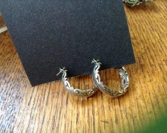 Sterling silver hoops # 4