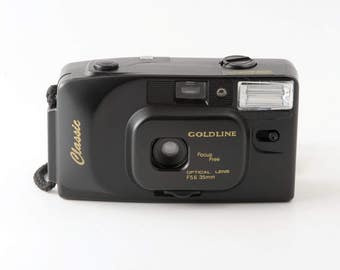 Goldline Classic Point and Shoot 35mm Film Camera with Case