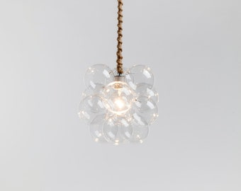 "The Petite Bubble Pendant.  The smallest bubble chandelier of them all.  (10"" diameter)"