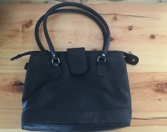 Black Handbag, Everyday Handbag, Black Pocketbook