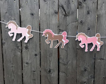 Horse Garland, Horse Banner, Cowgirl Garland, Cowgirl Banner, Cowgirl Birthday, Horse Decorations, Photo Prop