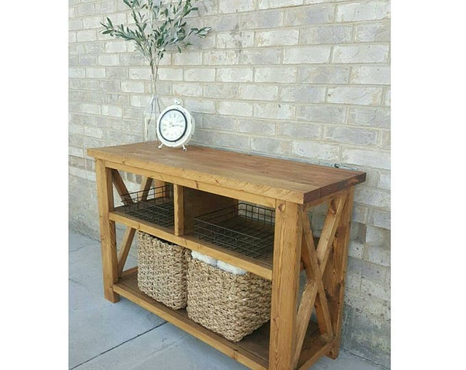 Entryway Table - Console Table - TV Stand - Coffee Bar - Farmhouse Table