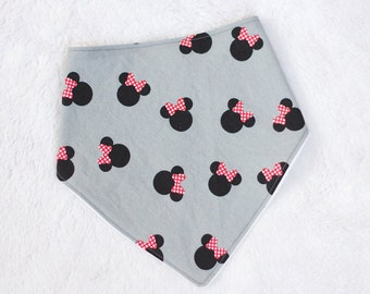 Disney Baby Bibdana, Bandana Bib, Minnie Mouse Baby Bib - Minnie Mouse