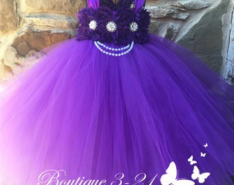 Purple Flower Girl Dress, Purple Tutu Dress, Purple Tulle Dress, Purple Dress, Purple Wedding, Purple, Flower Girl Dress