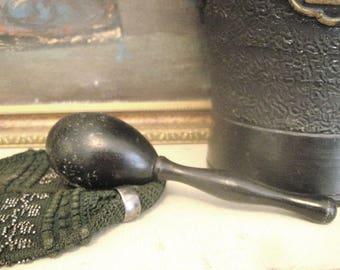 Victorian Black Wood Darning Egg