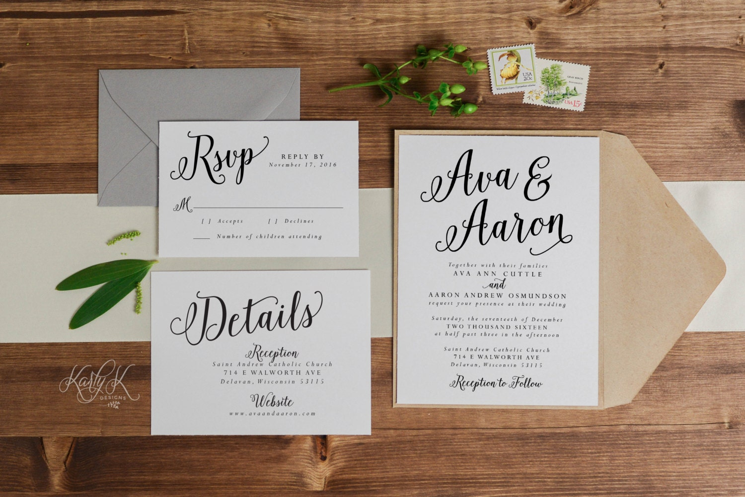 One Page Wedding Invitations: SALE Rustic Wedding Invitations Printable Wedding Invitation