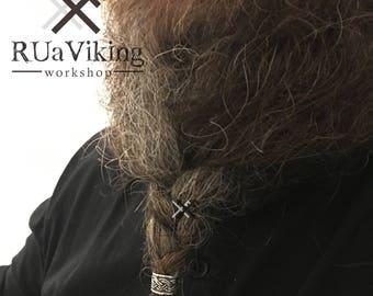 Big Boy aka Jörmungandr - Viking beard bead - band - 11 mm inner diameter - sterling silver - Dwarvish / Viking beard ring
