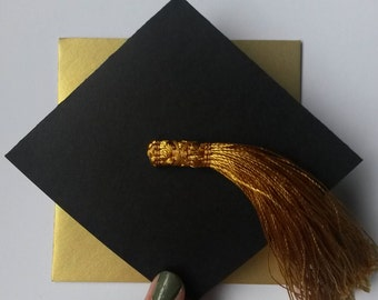 Black/Gold Graduation Card