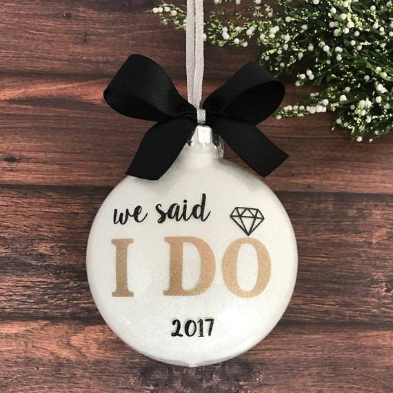Our First Christmas Ornament Married Just Married Ornament