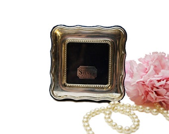 Vintage Square Sterling Silver Photo Frame, Made in England Sheffield Silver, Mini Photo Frame, Sentimental Gift