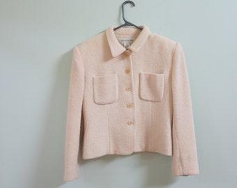 Jones New York Cream Coloured Wool Coat