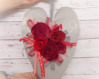 Pillow Heart.  Heart Toy.  Anniversary. Valentine's Day. Gift for girlfriend. Heart Stuffed Toy. Stuffed Heart. Cute gift. Heart gift. Love.