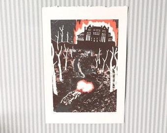 Rebecca - Unframed Screen Print - Natalie Blofield