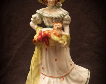 Royal Doulton Jane HN3711 Southern Belle with Cat Figurine