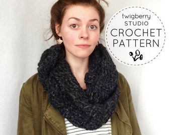 Chunky Infinity Scarf Pattern, Crochet Scarf PATTERN, Crochet Infinity Pattern, Infinity Scarf Pattern, Crochet Cowl Pattern, Chunky Crochet