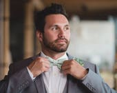 Dusty Shale Inspired Bow Tie for Men or Boys (Color SEAFOAM) Made in the USA