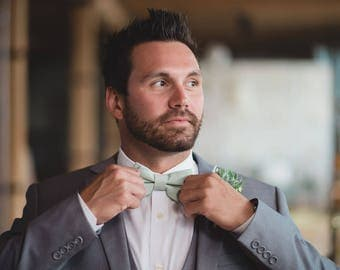 Dusty Shale Bow Tie, Dusty Green Bow Tie, Adult & Child Bow Ties, Made in the USA, Use code TENOFF5 at checkout for 10% off 5 or more!