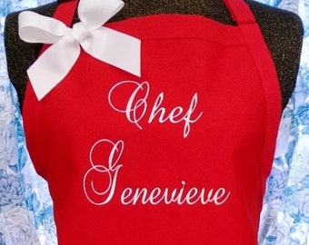 Monogrammed Apron Chef Style Gourmet Kitchen
