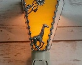 Giraffe Night Light - Stained Glass - Home & Living - Lighting - Stained Glass Night Light - Home Decor - Hand Made
