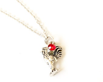 Chinese Necklace, Chicken Necklace, Rooster Necklace, Year of the Rooster, Chinese Zodiac, Chinese New Year, Spiritual Jewelry, Chicken Gift