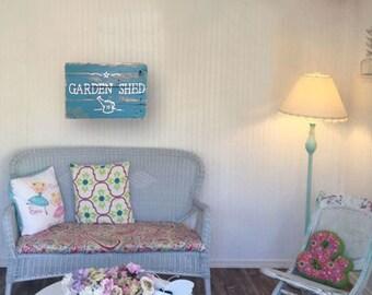 Garden Sign - Turquoise Wall Art - Garden - Gardener Shed Sign - Turquoise Garden Shed Sign - Birthday Gift - Gift for Her