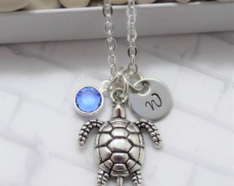 Sea Turtle Necklace - Turtle Jewelry - Beach Charm Necklace - Ocean Wedding