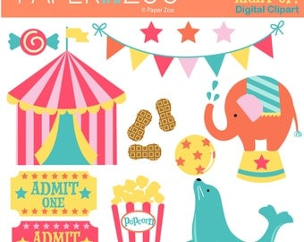 Step Right Up, Circus, Big Top Clip Art Set by Paper Zoo Printables