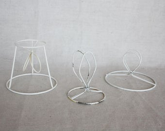 Lamp shade frame etsy lamp shades set of 3 lamp shade frame vintage wire lamp salvage lamp metal shade frame greentooth Choice Image