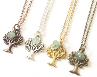 Tree Necklace, Tree Pendant Necklace, Tree of Life Necklace, Nature Jewelry, Woodland Jewelry, Earthy Jewelry, Spiritual Gift, Outdoor Gifts