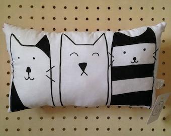 Cushion- Cat Cushion - Cat Theme -  Three Cats - Cats - Cat Pillow