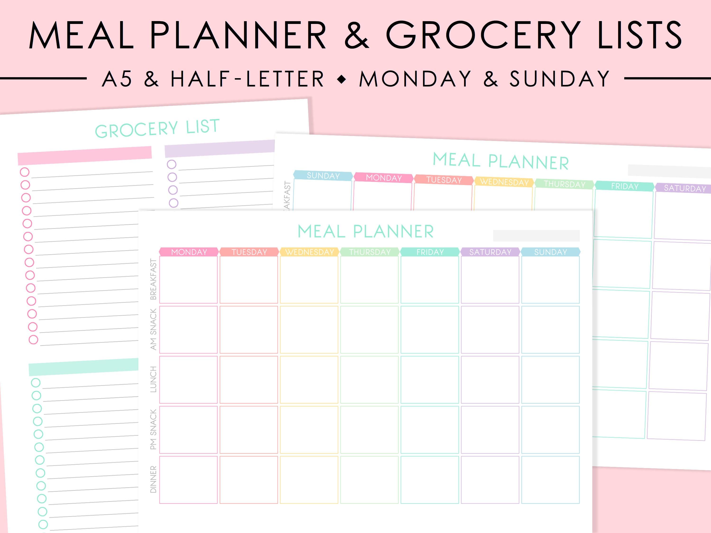 Shopping list – Grocery List Organizer Template