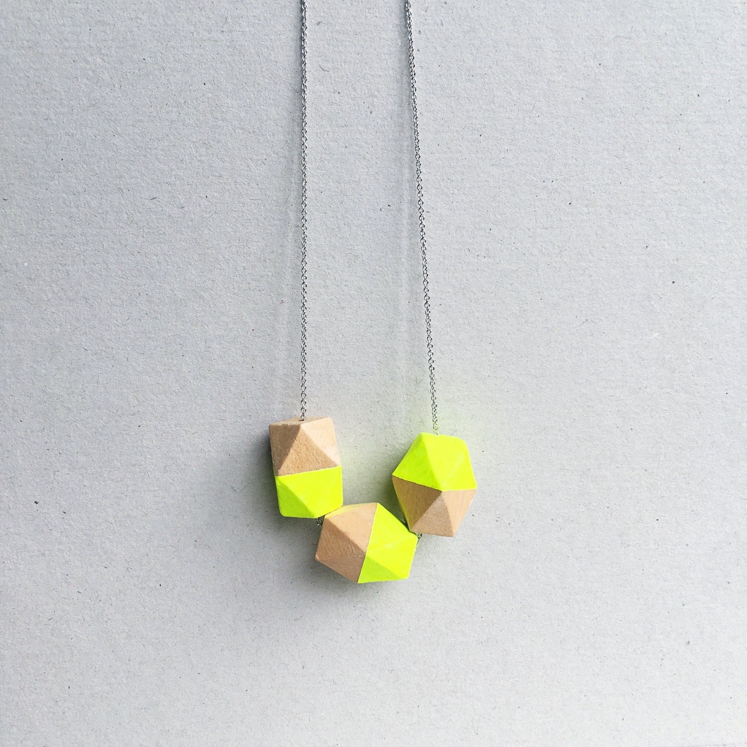 Neon yellow necklace