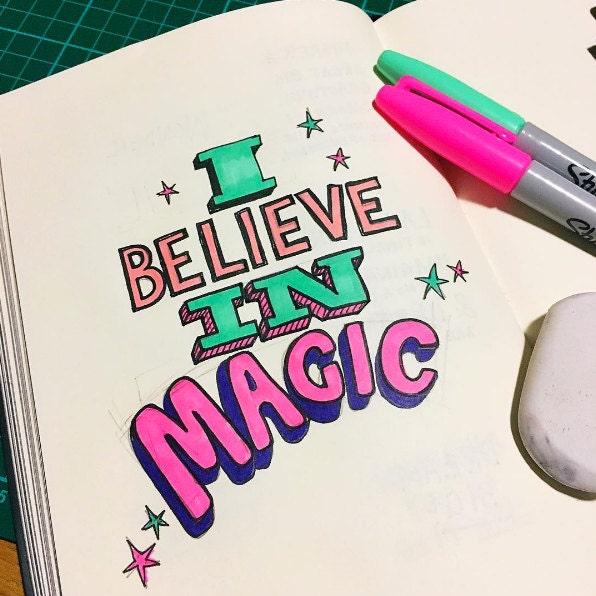 I believe in magic sketch