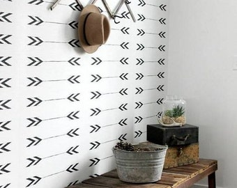 Geometric wallpaper, self adhesive, temporary, removable nursery mb077