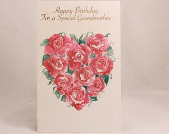Happy Birthday Grandmother by Sentiments. 1 Card and 1 Envelope included.