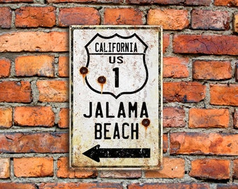 Personalized Metal Highway Sign With Bullet Holes Name State Highway House Customized Beach Village Town City Home Decor (999-00166)