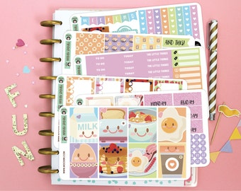 Breakfast Planner Sticker Kit / Planner Stickers for use with the Erin Condren LifePlanner(TM)