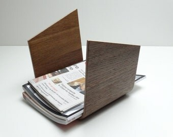 Bent plywood door magazine, Wood holder newspaper, Newspaper rack