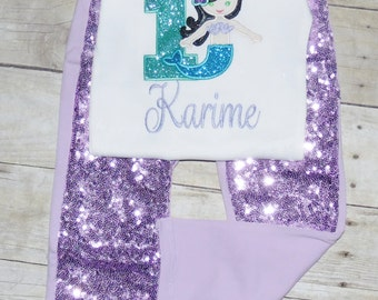 Mermaid birthday outfit, Little mermaid birthday outfit. mermaid birthday party invitations, mermaid birthday shirt, mermaid tutu